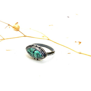 ((reserved for Anik)) Turquoise Stack Ring