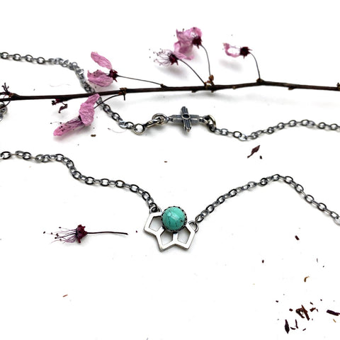Tiny Sage Necklace - Meltdown Studio Jewelry