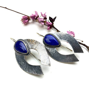Lapis Naja Earrings - Meltdown Studio Jewelry