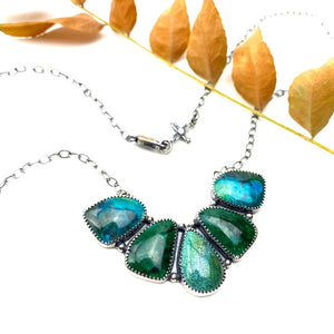 Chrysocolla + Turquoise Necklace