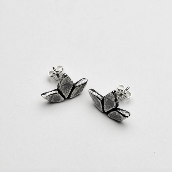 Autumn Sage Stud Earrings - Meltdown Studio Jewelry