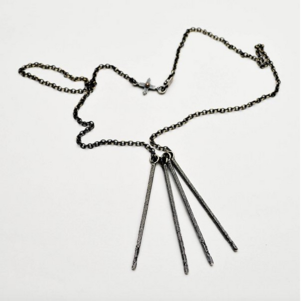 Falling Twig Necklace - Meltdown Studio Jewelry