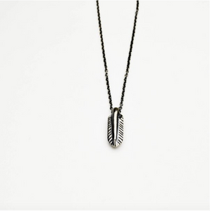 Lone Feather Necklace - Meltdown Studio Jewelry