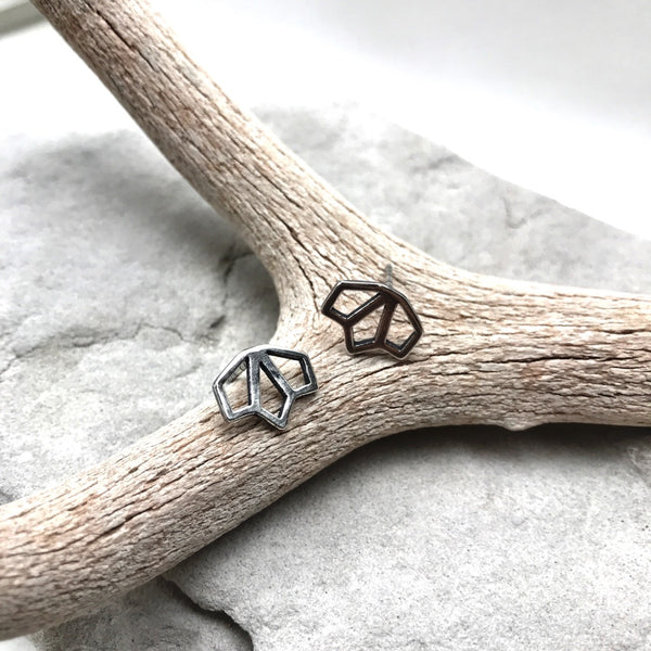 Tiny Sage Stud Earrings - Meltdown Studio Jewelry
