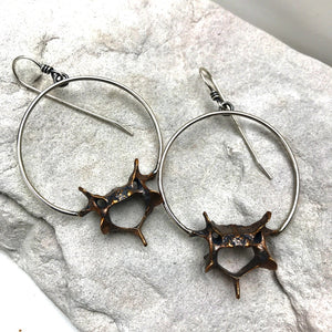 Vertebrae Hoops - ((Reserved for Kara)) - Meltdown Studio Jewelry