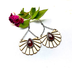 Garnet Desert Sunset Earrings