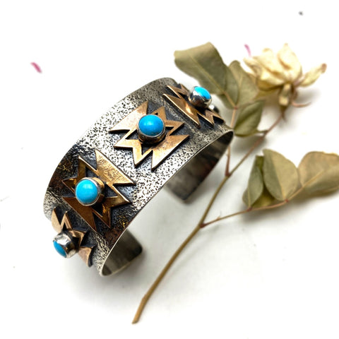 Turquoise Butterfly Cuff Bracelet