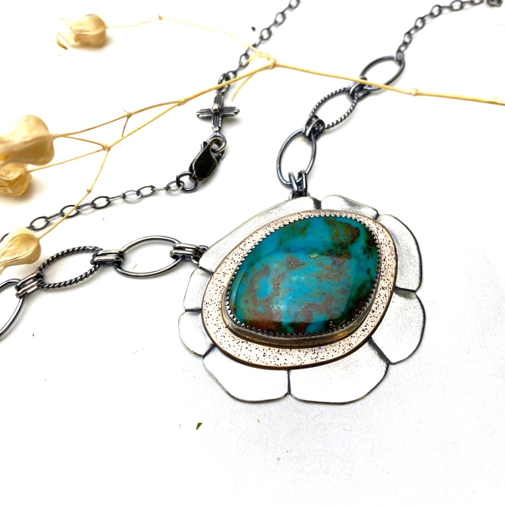 Turquoise Bloom Necklace