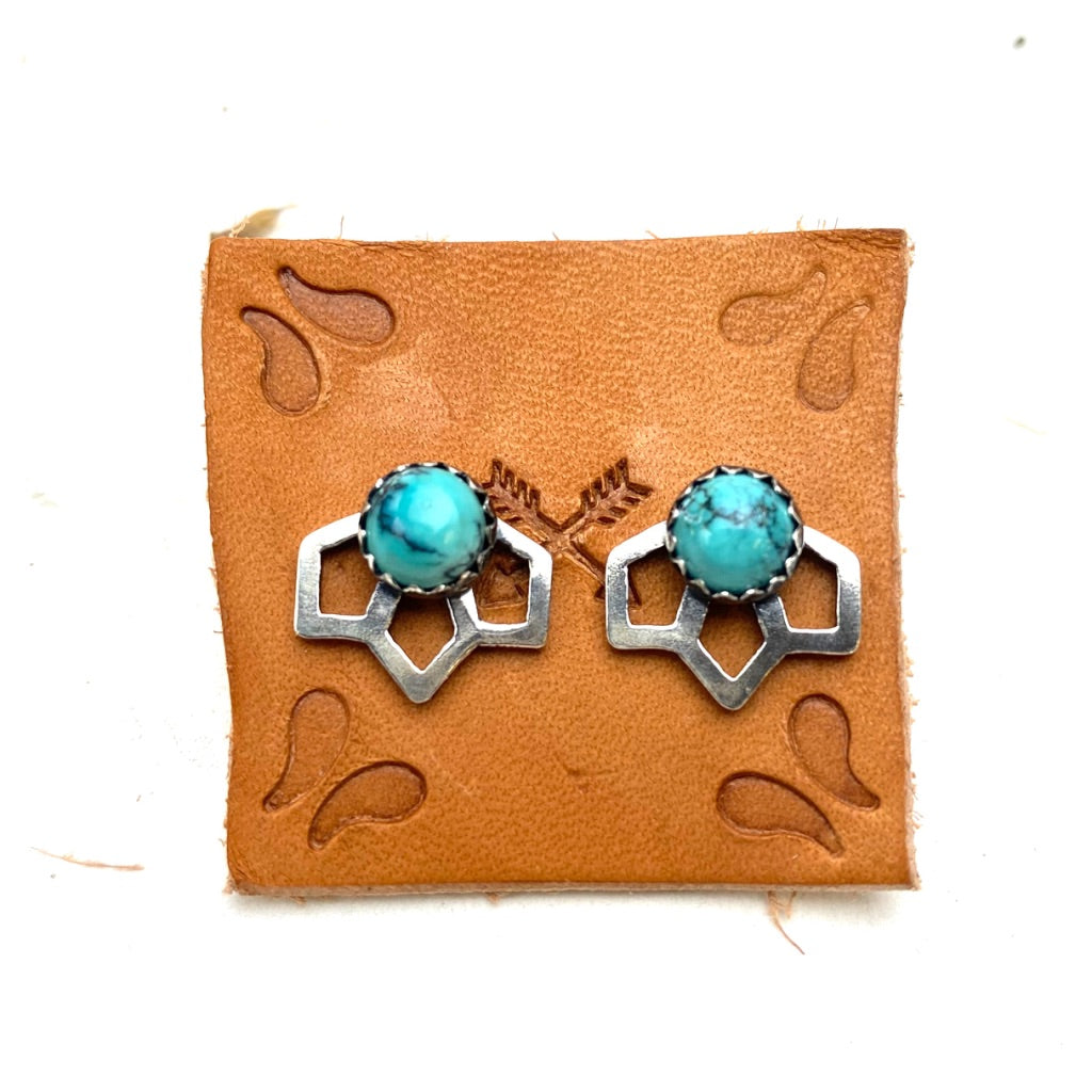 Tiny Sage Earrings