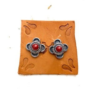 Coral Desert Bloom Earrings