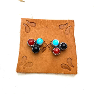 Multi-stone Post Earrings