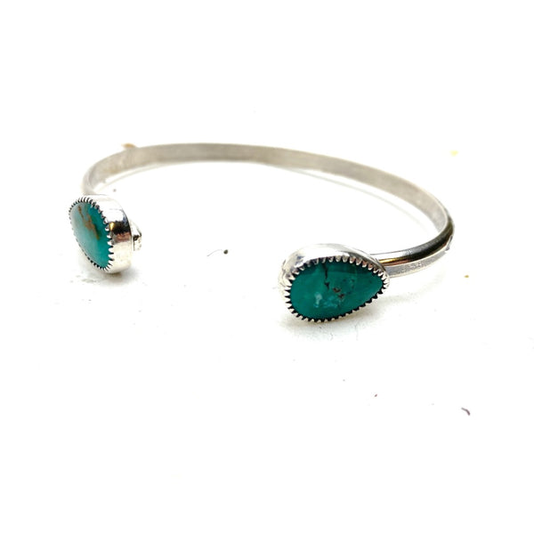 Double Turquoise Cuff Bracelet