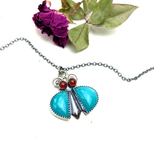 Amazonite Bug Necklace