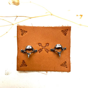 ((reserved for Cathy)) Vertebrae Stud Earrings