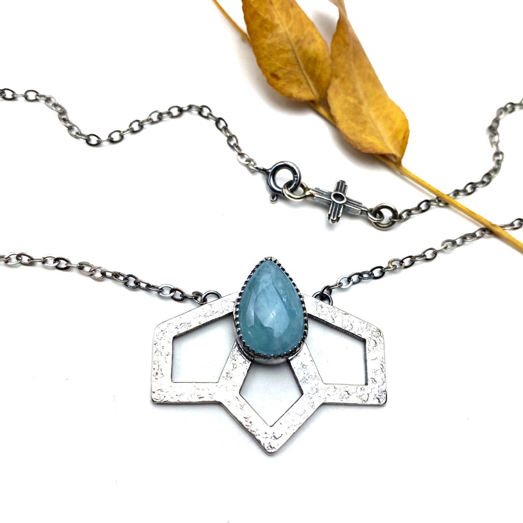 Aquamarine Agave Bloom Necklace