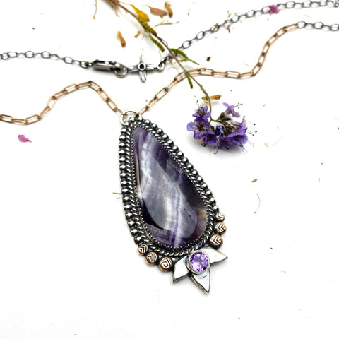 Amethyst Necklace - Meltdown Studio Jewelry