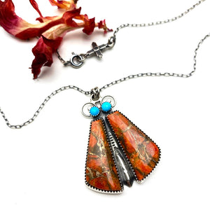 Coral Bug Necklace - Meltdown Studio Jewelry