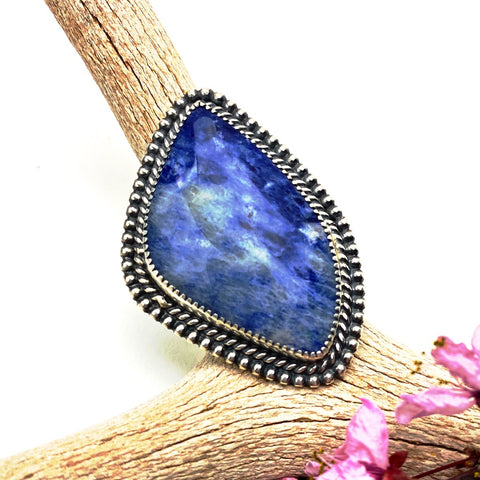 Lapis Statement Sterling Silver Ring
