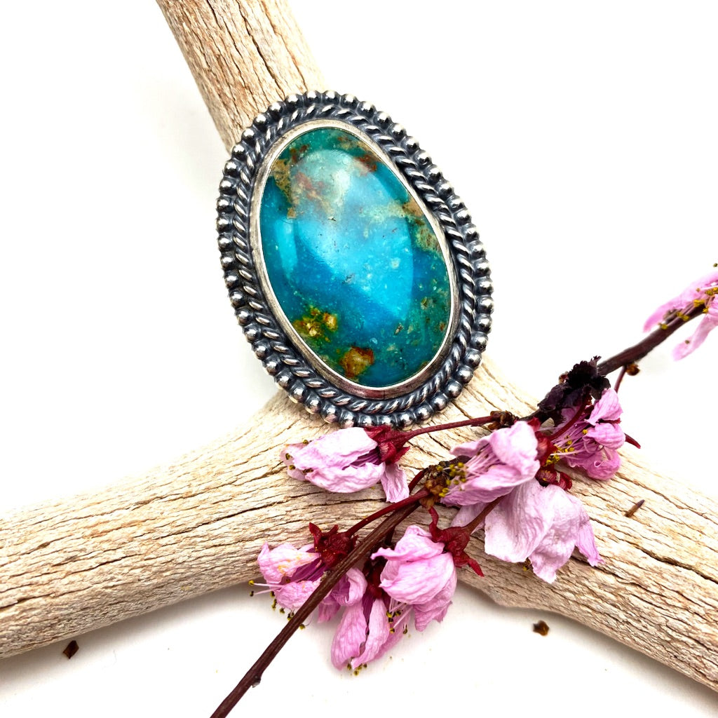 Turquoise Statement Ring - Meltdown Studio Jewelry
