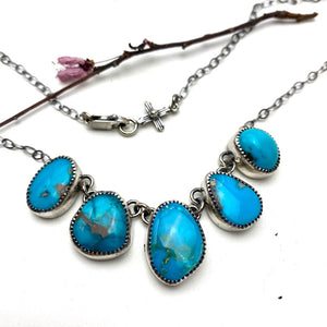Linked Turquoise Necklace