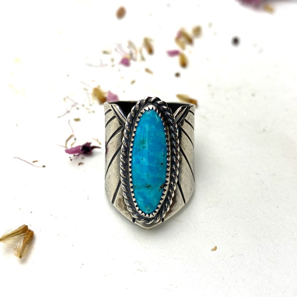 Turquoise Winged Warrior Ring - Meltdown Studio Jewelry