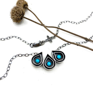 Turquoise Raindrop Necklace