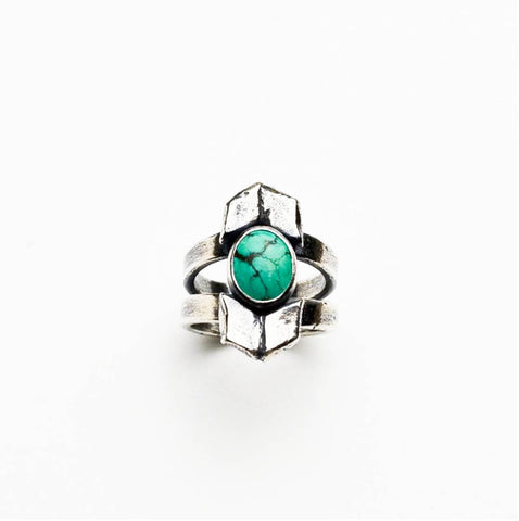 Turquoise Sacred Journey Sterling Silver Ring