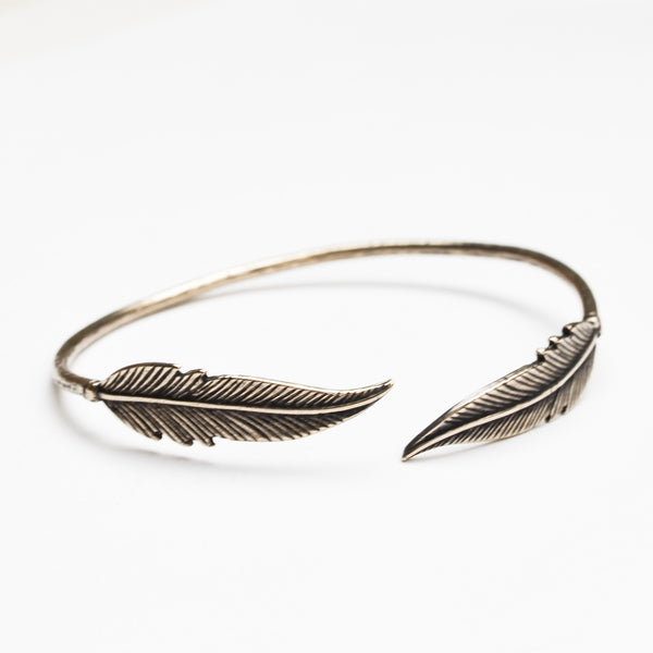 Feather Cuff Bracelet - Meltdown Studio Jewelry