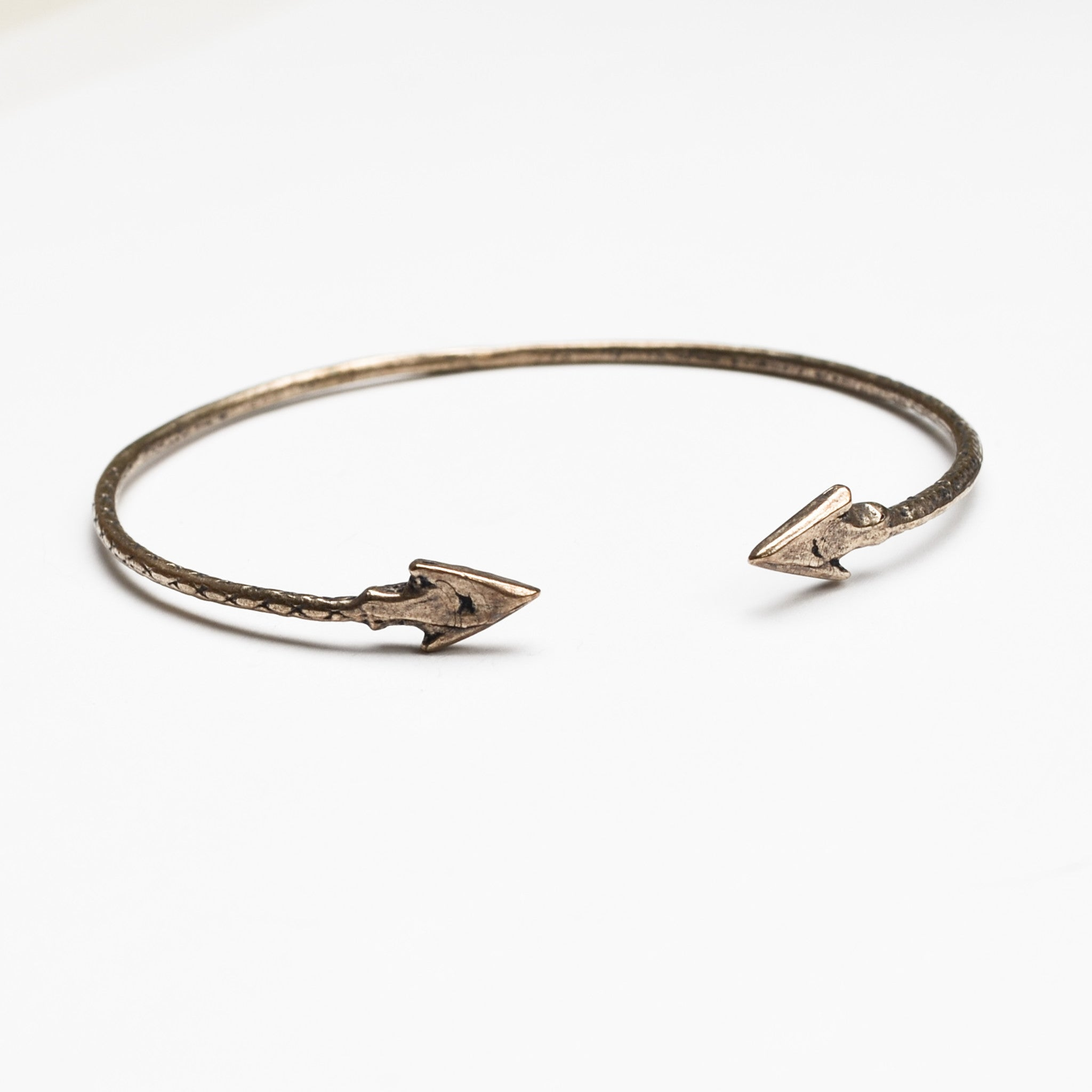 Double Arrow Cuff Bracelet - Meltdown Studio Jewelry
