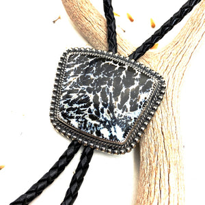 Black Feathered Jasper Bolo