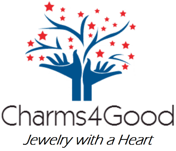Charms4Good logo jewelry with a heart, with limited edition, Pandora charms