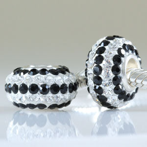Clear & Black Zircon Bead