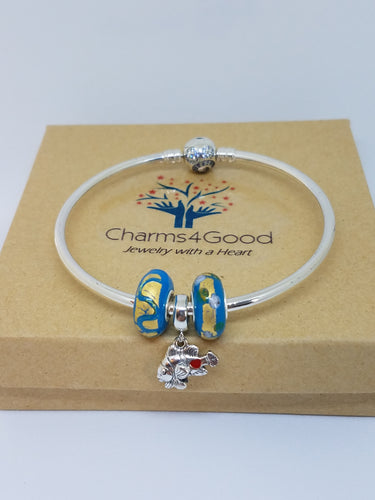 CRA Clown Fish Charm Bracelet Starter Set - Solid Bangle