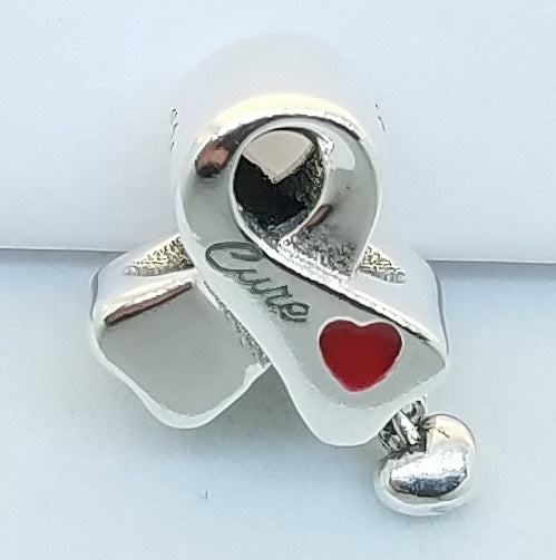 Cancer Ribbon Charm - Donation to the Cancer Research Institute