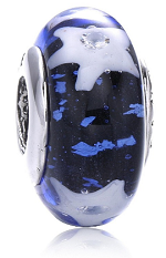 Murano Starry Sky Glass Charm Bead