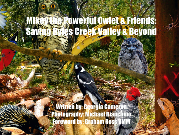 NEW BOOK - Mikey the Powerful Owlet & Friends: Saving Byles Creek Valley & Beyond - Book (price includes domestic express postage & handling)