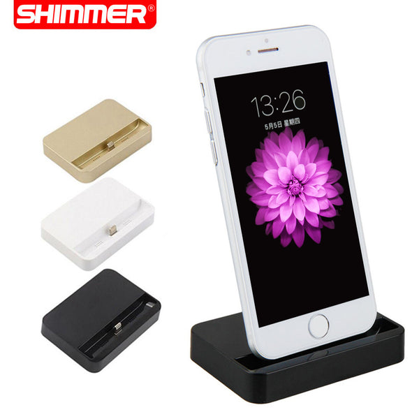 SHIMMER Portable Desktop Data Sync USB Cradle Dock Charger Charging Station For iPhone SE 5 5S 5c 6 Plus 6s 6splus
