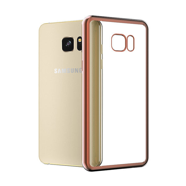 Luxury Plating Soft TPU Case Cover For Samsung S7 / Edge / Note 7 / S6  Edge Plus / Note 5 For Iphone 7 / 6 S / Plus Clear Back