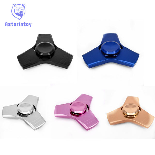 5 colour EDC handspinner Toy Triangular Hand Spinner aluminum /Torqbar copper Material Professional Finger gyro For Autism