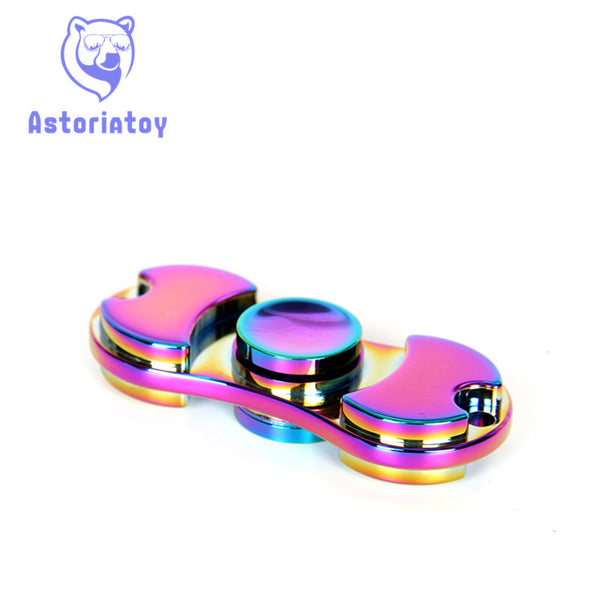 Full aluminum hand spinner, highly polished