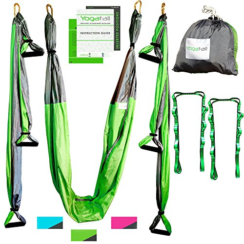 aerial yoga swing   gym strength antigravity yoga hammock   inversion trapeze sling exercise equipment with     aerial yoga swing   gym strength antigravity yoga hammock      rh   soulefx