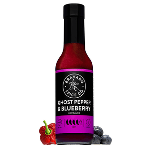 Bravado Spice Ghost Pepper and Blueberrry Hot Sauce