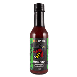 PexPeppers Atomic Purple Hot Sauce