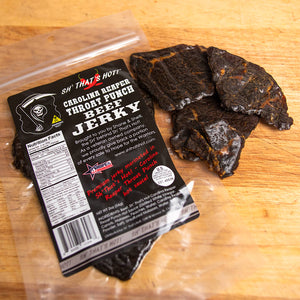 Sh' That's Hot Carolina Reaper Throat Punch Beef Jerky