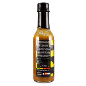 PexPeppers Lemon Yellow Jacket Hot Sauce