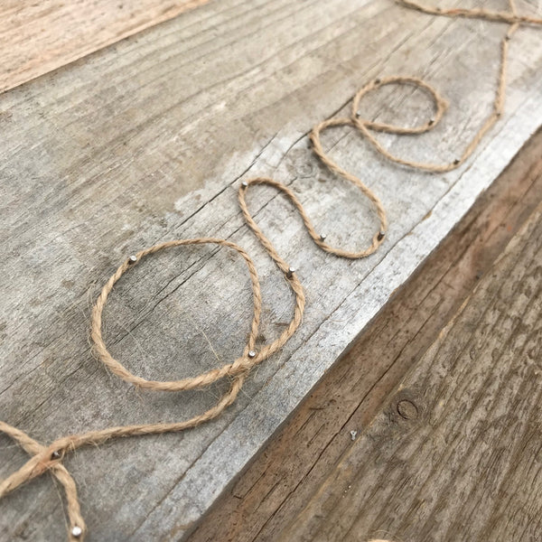 Pinterest Win; Love Rope & Wood Sign