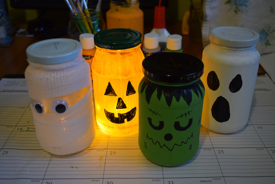 Halloween Re-purposed Jam Jars