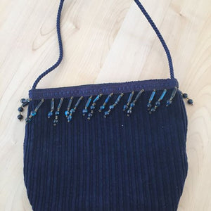 Blue Corduroy Purse