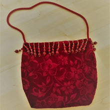Load image into Gallery viewer, Red Velvet Purse