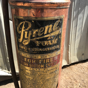 Brass Pyrene Fire Extinguisher
